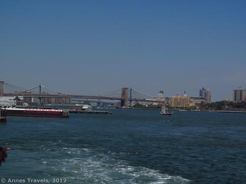 The Brooklyn Bridge from the Staten Island Ferry