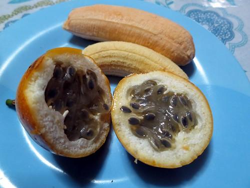 Granadilla, plátano manzano, plátano de la isla