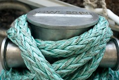 turquoise, rope,