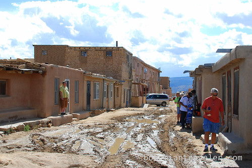 a street at Acoma Pueblo Sky City