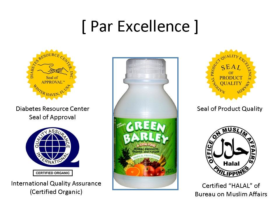 Green Barley Endorsements