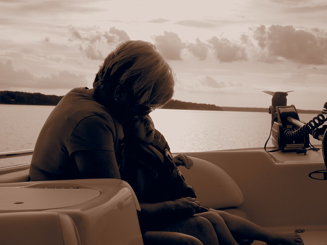 on boat with grammy ruth