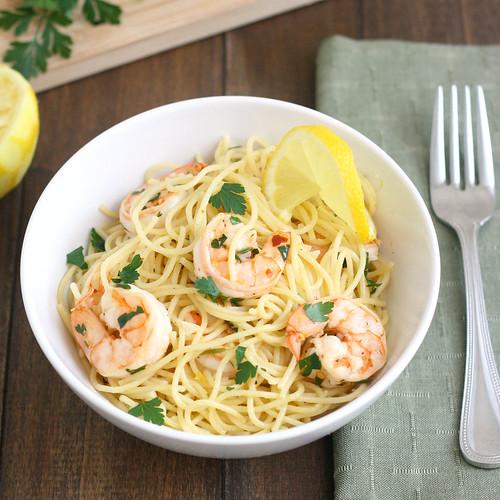 Lemony Shrimp Scampi Pasta
