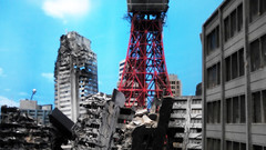 landscape of Tokyo, after attack of the Kyoshinhei
