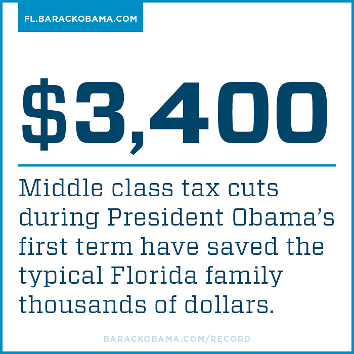 Florida families saving under President Obama's tax cuts