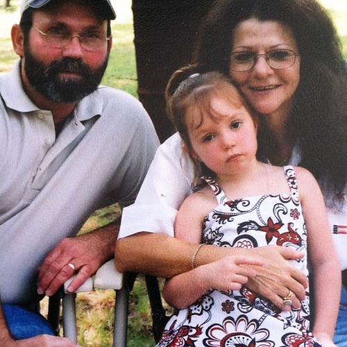 my dad and step mom with a younger mackenzie. See this photo on the blog today too. #shesthemack #sixcherries