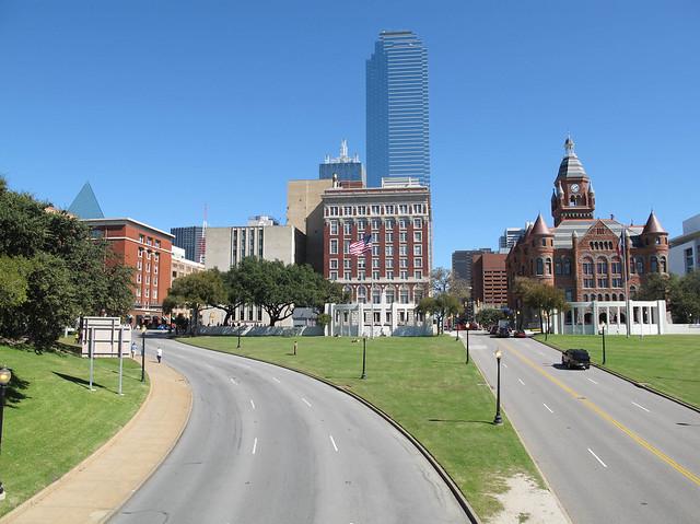 Dealey Plaza in Dallas, Location of John F  Kennedy