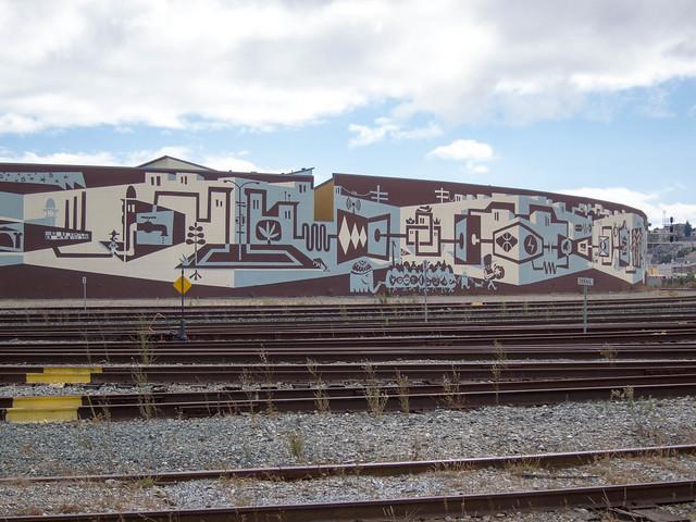 Caltrain Mural by Brian Barneclo