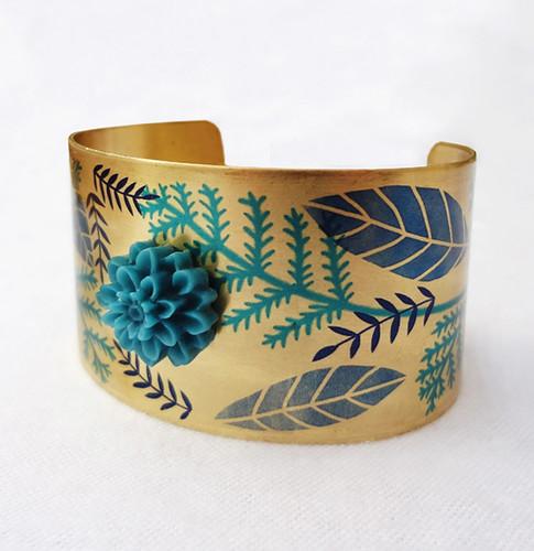 Blue Garden Cuff