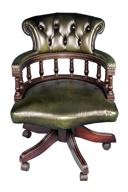 captains style green leather desk chair flickr photo sharing