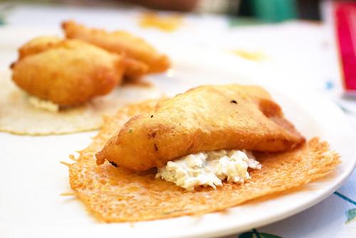 fish taco @ santos mariscos