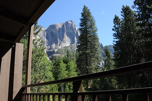 A view from Yosemite lodge terrace