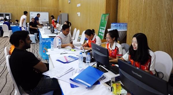 Trung tâm báo chí và truyền hình quốc tế của Đại hội được đặt tại khách sạn Trường Sơn Tùng 5 (Ảnh: Văn Duy)