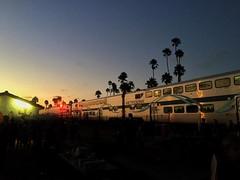 Friday night lights at North Beach. #iphoneography #metrolink #sanclemente #northbeach #sunset #dusk