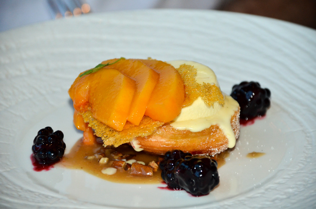Napa Rose Peach dessert