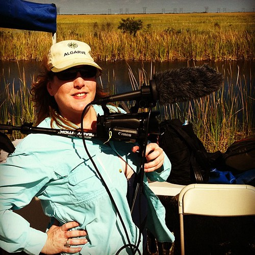Yours Truly with Video Gear canon ax10 filming in everglades