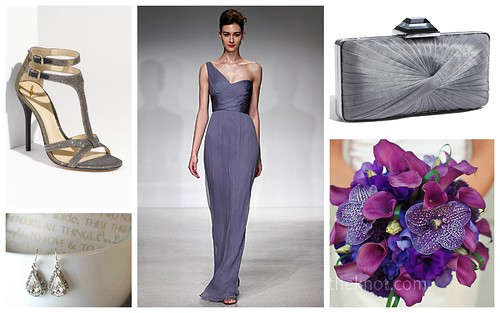 {Shades of Purple + Grey} Bridesmaid's Style by Nina Renee Designs
