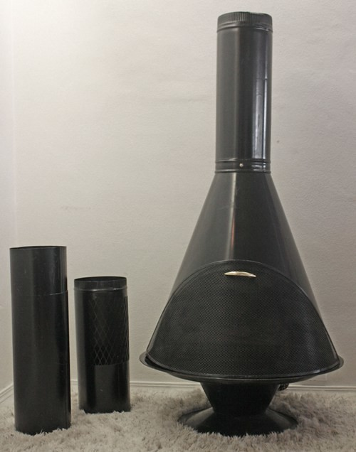 Mid Century Modern Free Standing Electric Fireplace