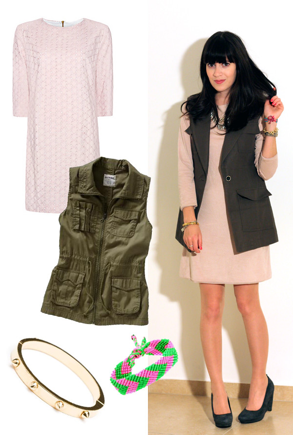 eyelet_pink_dress_safari_military_vest