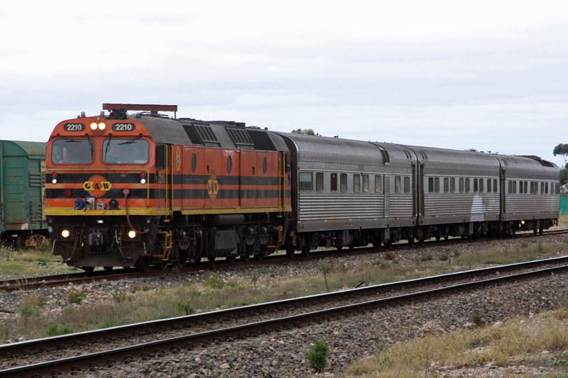 AK Test Train at Tailem Bend by Corey Gibson