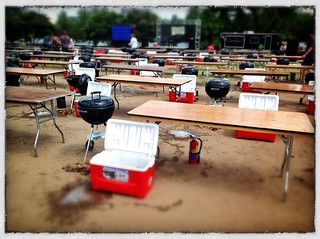 Hands on grilling setup at the Austin Food and Wine Festival