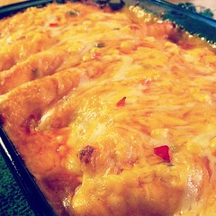 Yesss. #dinner #skinnyenchiladas