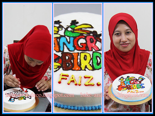 Drawing on Buttercream Cake ~ 2  April 2012