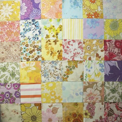 "Vintage Sheet Charm squares (5"")"