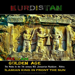 Kurdistan Ilamian king in front the sun