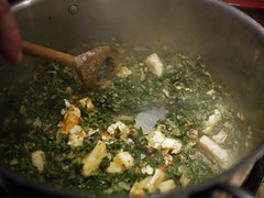 Saag paneer - Paneer added