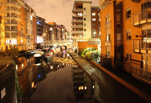 Birmingham - Canal by night