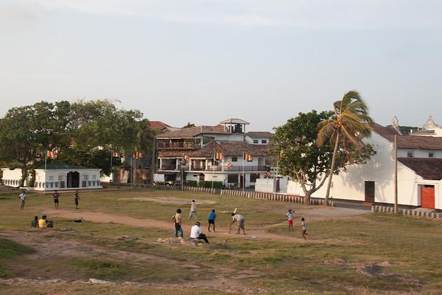 Cricket match inside Galle Fort