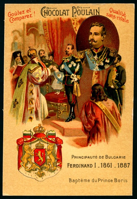 French Tradecard - Ferdinand I of Bulgaria