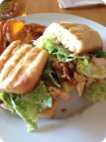 Chicken Caesar sandwich at Pressed