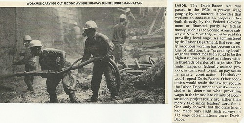 1974 New York City: 2nd Avenue Subway Construction (Time Magazine - Issue N/A)