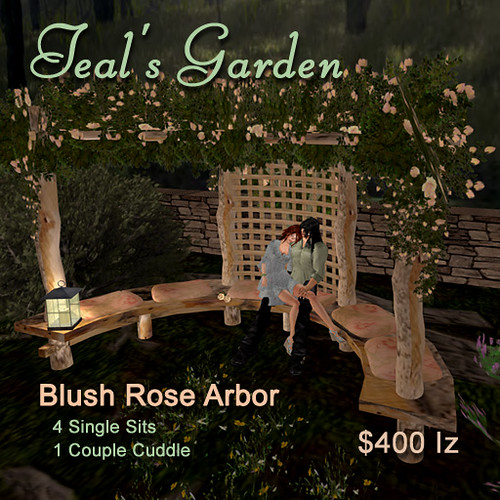 Blush Rose Arbor by Teal Freenote