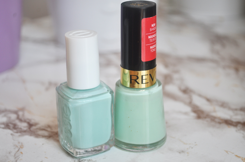 essie mint candy apple revlon minted comparison