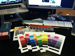 This is my desk right now. Colour is a science, I tells ya.