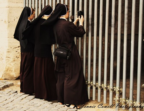 Three Nuns in Rome