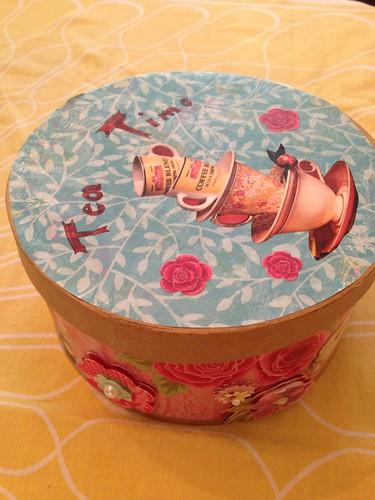a lovely handmade teaparty box