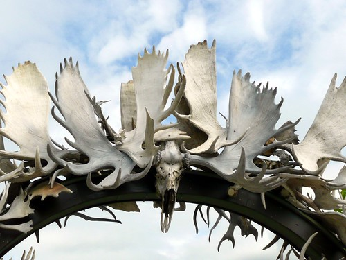 Antler Arch, Visitor Center, Fairbanks, Alaska by RV Bob