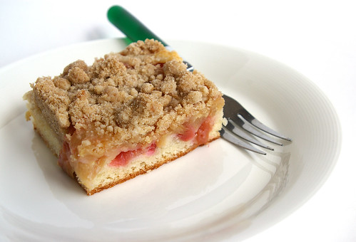 Rhubarb Snacking Cake III