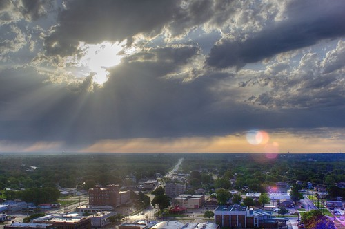 rain clouds sunrise rays hdr bartlesville 12thfloorviews