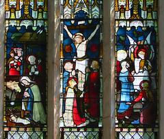 nativity, crucifixion, resurrection