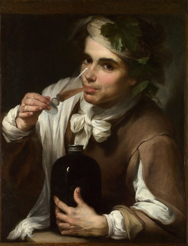 Style of Bartolome Esteban Murillo - A Young Man Drinking [1700-50] by Gandalf's Gallery