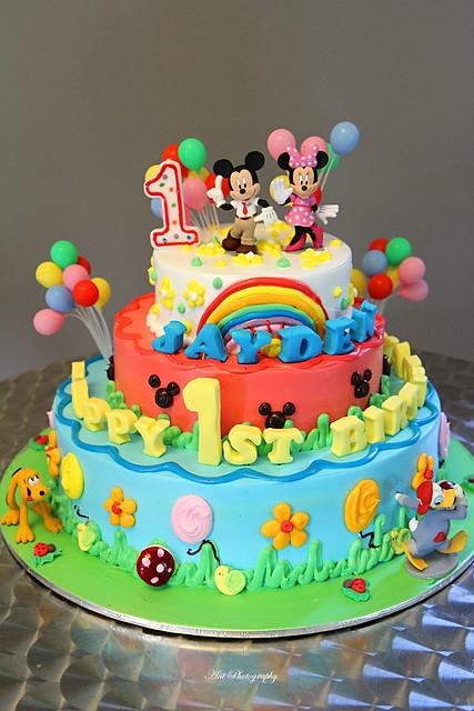 Pine Garden Birthday Cake