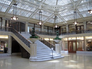 Kuva The Rookery lähellä Cook County. franklloydwright 1900s danielburnham burnhamroot williamedrummond johnroot