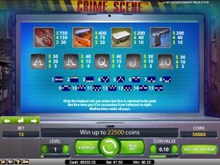 free Crime Scene slot payout