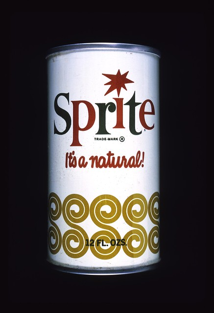 Design of the Sprite can by Herb Lubalin Inc. c. 1964