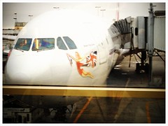 Waiting to board Miss Kitty LAX - London for two-week holidayi